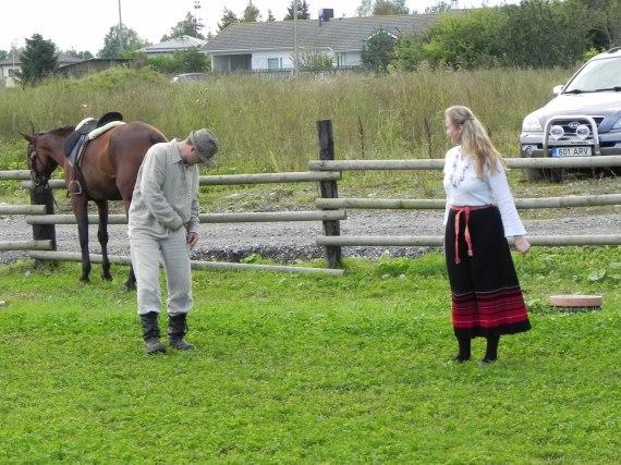 Andres tuli hobusega justkui mõni härra!