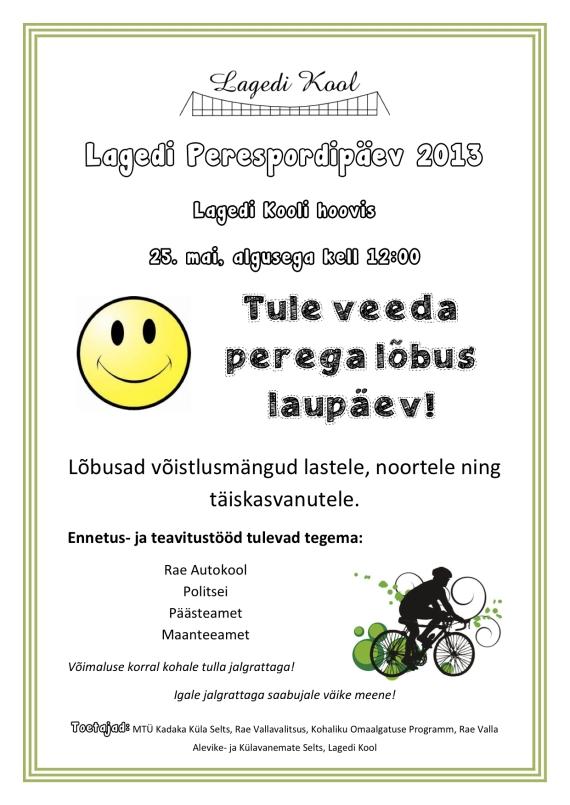 Lagedi Perespordipäev 2013-oige