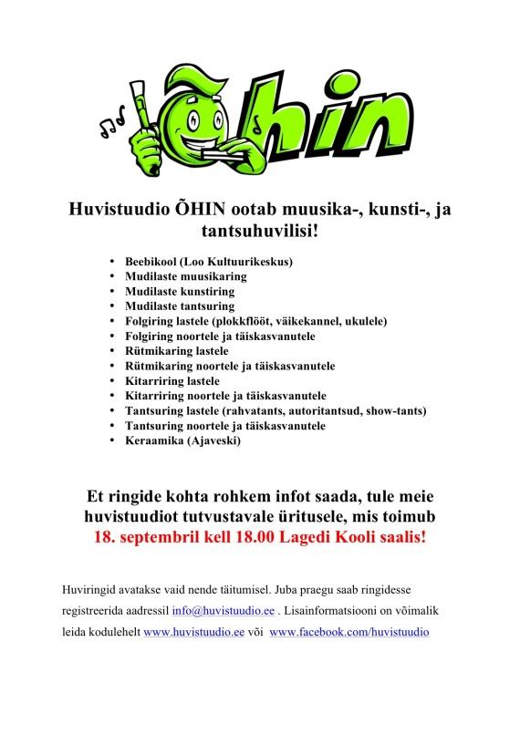 Huvistuudio ÕHIN facebooki